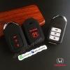 ปลอกซิลิโคน หุ้มกุญแจรีโมทรถยนต์ Honda Accord All New City 2014-15 Smart Key 3 ปุ่ม สี ดำ/แดง