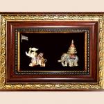 ของพรีเมีี่ยม กรอบไม้คู่ลายไทย A19 A17 (ขนาด : 6.5 x 8.5 นิ้ว )