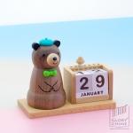 ของขวัญ Wooden Gift - ปฏิทินปากกา หมี