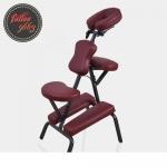 เก้าอี้สักลาย เก้าอี้นั่งสัก เก้าอี้พับได้ เก้าอี้พกพา สำหรับการสัก นวด สปา Foldable Portable Massage Tattoo Spa Chair (สีแดงเข้ม DARK RED)