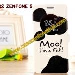 เคสzenfone 5 ฝาพับ FLIP COVER ลายการ์ตูน MOO