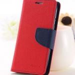 เคส asus zenfone selfie ZD551KL ฝาพับ mercury fancy diary case สีแดง-น้ำเงิน