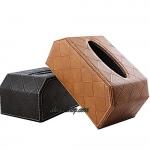 กล่องทิชชู้ หุ้มด้วยหนัง Hi-End อย่างดี ทรงเหลี่ยม สำหรับใช้ตกแต่ภายในรถยนต์