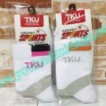 ถุงเท้า TKU เนื้อหนาอย่างดีนุ่มใส่กระชับสบายเท้ามากๆๆ มี 2 สี (สีชมพู, สีส้ม)