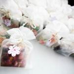 ถุงผ้าไหมแก้วแบบเหลี่ยม Organza gift bags