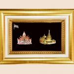 ของที่ระลึก กรอบทองคู่ลายไทย A09 A10 (ขนาด : 6 x 8 นิ้ว )