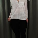 เสื้อChecked Shirt สีขาว
