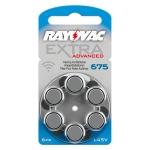 [RAYOVAC A675] ถ่านเครื่องช่วยฟัง ถ่านหูฟังคนแก่ ขนาดA675/PR44 แพ็ค 6 ก้อน ถ่านอุปกรณ์ช่วยฟังนำเข้ามาตรฐานยุโรป Rayovac Extra Advanced 1.45V Zinc Air Hearing Aid Battery (6 PCS)