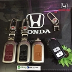 NEW กรอบ_เคส ใส่กุญแจรีโมทรถยนต์ รุ่นโคเมียม HONDA HR-V,CR-V,BR-V,JAZZ Smart Key 2 ปุ่ม