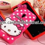เคส asus zenfone 5 ซิลิโคน การ์ตูน 3D Hello Kitty สีชมพู rose red