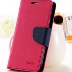 เคส asus zenfone selfie ZD551KL ฝาพับ mercury fancy diary case สีชมพูเข้ม-น้ำเงิน