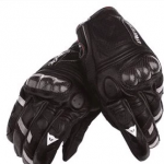 ถุงมือขี่มอเตอร์ไซค์ Dainest ข้อสั้น สีดำ