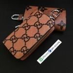 กระเป๋าซองหนังแท้ ใส่กุญแจรีโมทรถยนต์ รุ่นซิบรอบหนังด้าน พิมพ์ลาย Gucci,Lovis Vuittton