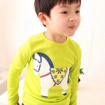 เสื้อ เด็กผู้ชายสีเขียว size 90