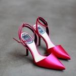 รองเท้าแฟชั่นผู้หญิง ส้นสูงหัวแหลม สีแดง ไซส์ 36-39 (Pre)