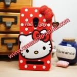 เคส asus zenfone 5 ซิลิโคน การ์ตูน 3D Hello Kitty สีแดง