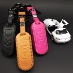 ซองหนังแท้ใส่กุญแจรีโมทรถยนต์ สีสันสดใส Mazda 2-3/CX- 5 Smart Key 3 ปุ่ม