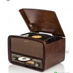 TR-280 CU เครื่องเล่นแผ่นเสียง+ วิทยุโบราณ + CD+ USB-MP3 + AUX Input + HI-FI