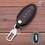 ซองหนังแท้ ใส่กุญแจรีโมทรถยนต์ รุ่นหนังนิ่ม Nissan Teana,Almera,Sylphy,Xtrail Smart Key 4 ปุ่ม