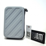 BUBM Waterproof Hard Travel Carrying Game Case Bag Cover สำหรับเครื่อง New3DS XL/LL (สีเทา)