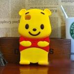 เคสโทรศัพท์ ซิลิโคน หมีพูห์ Pooh 3D น่ารัก ไอโพน 4/4s,5/5s