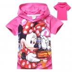 เสื้อยืดสีชมพูมิกี้เม้าส์ มีฮู้ด size 95 100 110 120 130