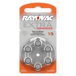 [RAYOVAC A13] ถ่านเครื่องช่วยฟัง ถ่านหูฟังคนแก่ ขนาดA13/PR48 แพ็ค 6 ก้อน ถ่านอุปกรณ์ช่วยฟังนำเข้ามาตรฐานยุโรป Rayovac Extra Advanced 1.45V Zinc Air Hearing Aid Battery (6 PCS)