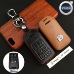 ซองหนังแท้ ใส่กุญแจรีโมทรถยนต์ รุ่นโลโก้เหล็ก Volvo S80 D3 Smart Key แบบใหม่