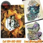 [OLD SCHOOL #3] หนังสือลายสัก Old School หนังสือสักลายโอสคูล รูปลายสักสวยๆ รูปรอยสักสวยๆ สักลายสวยๆ ภาพสักสวยๆ แบบลายสักเท่ๆ แบบรอยสักเท่ๆ ลายสักกราฟฟิก Old School Tattoo Manuscripts Flash Art Design Outline Sketch Book (A4 SIZE)