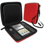 ◣2DS◢ กระเป๋า Hard Pouch สีแดง สำหรับ Nintendo 2DS ++ส่งฟรี++