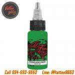 [WORLD FAMOUS] หมึกสักเวิล์ดเฟมัส หมึกสักลายเวิล์ดเฟมัส สีสักลายสีเขียว ขนาด 1 ออนซ์ สีสักนำเข้าจากประเทศอเมริกา World Famous Tattoo Ink - Everglades Green (1OZ/30ML)