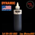 [DYNAMIC USA] หมึกสักไดนามิค หมึกสักลาย สีสักลายสีดำ อเมริกาแท้ ขนาด 8 ออนซ์ TATTOO INK (BLACK - 8OZ/245ML)