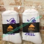 (Code 03) ถุงเท้า RSL สีขาวลายน้ำเงิน เนื้อหนาอย่างดีนุ่มใส่กระชับสบายเท้ามากๆๆ