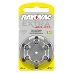 [RAYOVAC A10] ถ่านเครื่องช่วยฟัง ถ่านหูฟังคนแก่ ขนาดA10/PR70 แพ็ค 6 ก้อน ถ่านอุปกรณ์ช่วยฟังนำเข้ามาตรฐานยุโรป Rayovac Extra Advanced 1.45V Zinc Air Hearing Aid Battery (6 PCS)