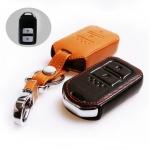 ซองหนังแท้ กุญแจรีโมท Honda HR-V,Jazz,CR-V,BR-V Smart Key 2 ปุ่ม