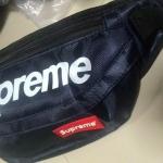 กระเป๋าคาดเอวขี่มอเตอร์ไซค์ Supreme สีกรม