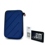 BUBM Waterproof Hard Travel Carrying Game Case Bag Cover สำหรับเครื่อง New3DS XL/LL (สีน้ำเงิน)