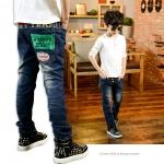 กางเกงยีนส์เด็กโต size 140 ขนาดเอว 18 ยืดได้ 24 นิ้ว สะโพก 18 นิ้ว ยาว 31 นิ้ว size