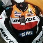 ชุดขี่มอเตอร์ไซค์ เสื้อแจ็คเก็ต เสื้อการ์ด Repsol ไซส์ XL,2XL สีส้ม-แดง