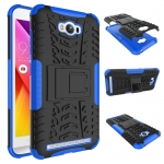 เคส asus zenfone MAX ZC550KL TPU+PC Dual Armor Case With Stand Holder Case สีน้ำเงิน