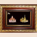 ของพรีเมีี่ยม กรอบไม้คู่ลายไทย A09 A10 (ขนาด : 6.5 x 8.5 นิ้ว )