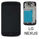 ราคาหน้าจอชุด+ทัสกรีน LG Nexus 4 อะไหล่เปลี่ยนหน้าจอแตก ซ่อมจอเสีย สีดำ