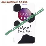 เคส asus zenfone 2 5.5 ze550ml/ze551ml ฝาพับ flip cover MOO