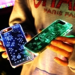 กรอบ เครสใส โทรศัพย์ มีไฟ LED เรืองแสง iPhone 4/4s - 5/5s