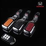 NEW กรอบ_เคส ใส่กุญแจรีโมทรถยนต์ รุ่นโคเมียม Honda Accord All New City Smart Key 3 ปุ่ม