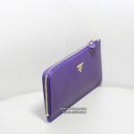 กระเป๋าสตางค์ Prada หนัง Saffiano Zippy งาน Top Mirror สีม่วง (Pre)