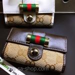 กระเป๋าพวงกุญแจ Gucci กุชชี่ ลายใหม่ คุณภาพเป็นเลิศ สี น้ำตาล - ขาว (Pre)