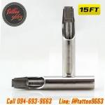 [15FT] ปลายกระบอกเข็มสัก ปลายสแตนเลสเบอร์ 15FT 304 Stainless Steel Tattoo Needle Mouth (1 PC)