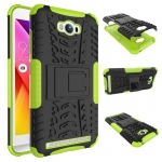 เคส asus zenfone MAX ZC550KL TPU+PC Dual Armor Case With Stand Holder Case สีเขียว