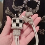 ที่ชาร์จไฟ USB iPhone iPod ประดับด้วยคริสตัล